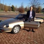 """Enrico con la sua """"nuova"""" Alfa Romeo 2.0 Veloce"""