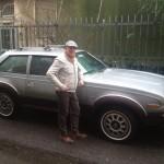 Luca di Grazia con la sua AMC Eagle Kammback, amico di Tiny Cars!