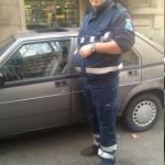 Roberto Perotto con la sua Alfa 75