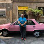 Alessandro con la Fiat Regata 70 S ex giro d'Italia 1984