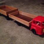 Camion italiano anni '50, legno e plastica