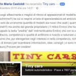 Carlo Maria Castoldi ha recensito Tiny cars con 5 stelle