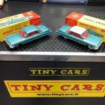 Curiosita': Cadillac 62 Dinky Toys n147 notare le differenze tra quella monocolore venduta in Europa e quella bicolore solo per il mercato americano, collezione privata non in vendita