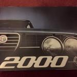 Depliant Alfa Romeo 2000 originale!