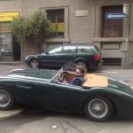Gianfrancesco Lauri, amico di Tiny cars con una strepitosa Austin Healey del 1954