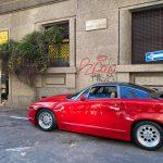 L'Alfa Romeo SZ ex Andrea de Adamich, targa Milano! 1991