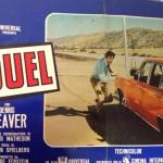 Locandina originale del film Duel, capolavoro di Steven Spielberg.