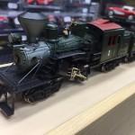Locomotiva sistema Clymax x ferrovie forestali, 3 carrelli motori, USA 1905 circa. Marca United anni '60 in ottone Scala HO 1:87