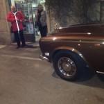 Rolls Royce Silver Shadow in visita notturna