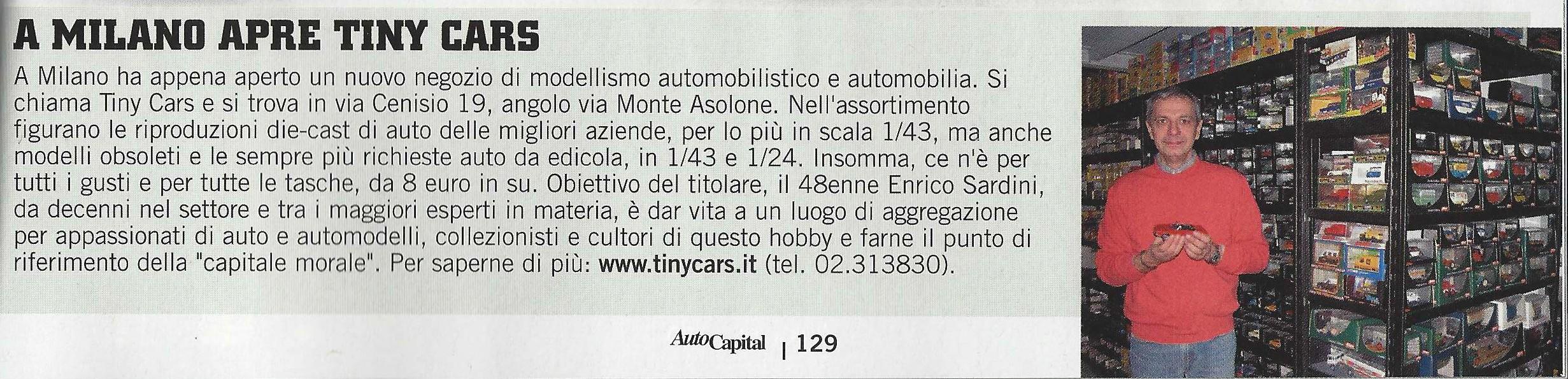 Su Auto Capital di Marzo 2013 si parla di Tiny Cars
