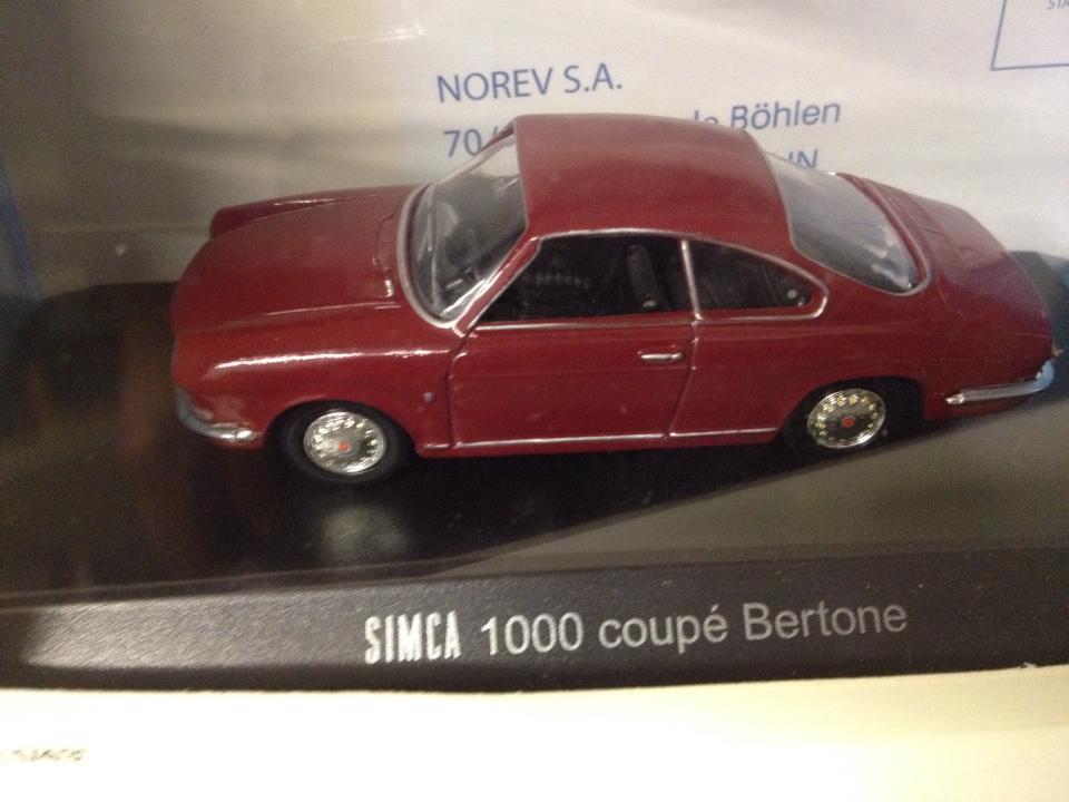 Simca 1000 coup bertone norev scala 1 43 tiny cars - Simca 1000 coupe bertone a vendre ...