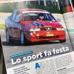 Renato Benusiglio a Imola con la 155 della Scuderia del Portello sulla rivista Grace 8090, Tiny Cars presente!