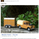 dal tavolo di Tiny Cars al giardino, come giocavo con la Land Corgi, nel 1967....Grazie Tiny Cars