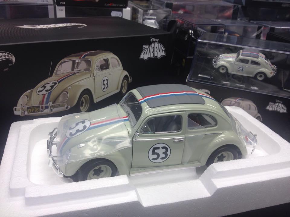 Volkswagen Beetle Herbie, Hot Wheels scala 1:18 - Tiny Cars