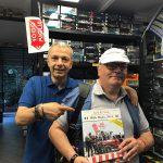 Gabriele Mutti mi onora della copia del suo libro Auto & Citta' Mille Miglia 2014