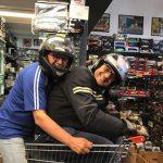 Luca e Luciano sulla nuova moto supersport!