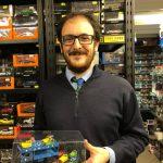Matteo Nava presenta il primo esemplare prodotto dalla Teo Mod del OM Leoncino Luna Park trasporto autoscontri