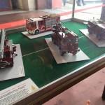 Collezione di modelli dei vigili del fuoco realizzati da Matteo Linari