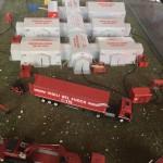 Plastico del Modulo di Supporto Logistico della Regione Veneto in scala 1:43