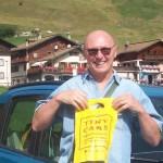 Luciano in Tiny vacanza a Livigno . . .
