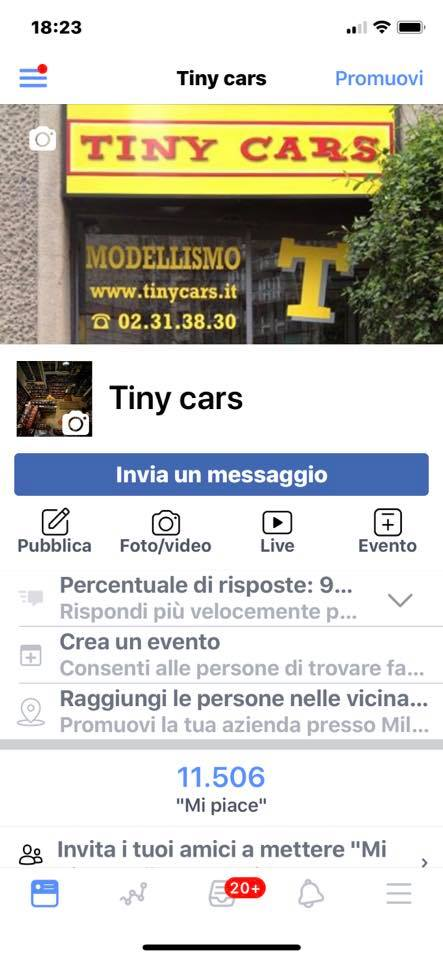 """11.500 """"Mi Piace"""" a Tiny Cars! Grazieee!"""