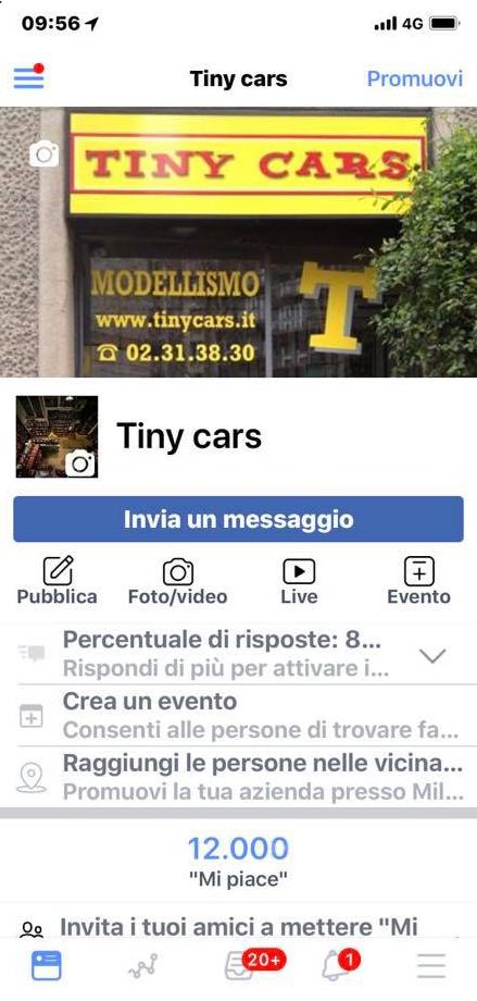 "12.000 DODICIMILA ""Mi Piace"" a Tiny Cars! Graziee !"