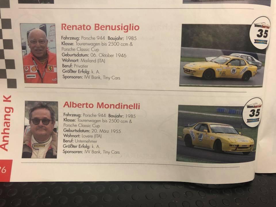La Porsche di Renato Benusiglio! Sponsoren: Tiny Cars