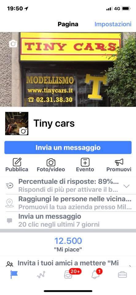 """12.500 """"Mi Piace"""" a Tiny Cars! Grazie a tutti dodicimilacinquecento!"""