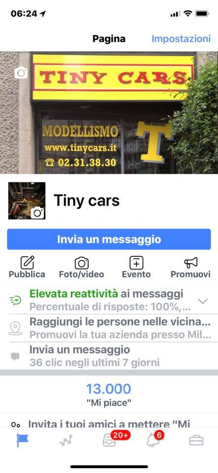13.000 Mi Piace a Tiny Cars! Grazie a tutti voi tredicimila!