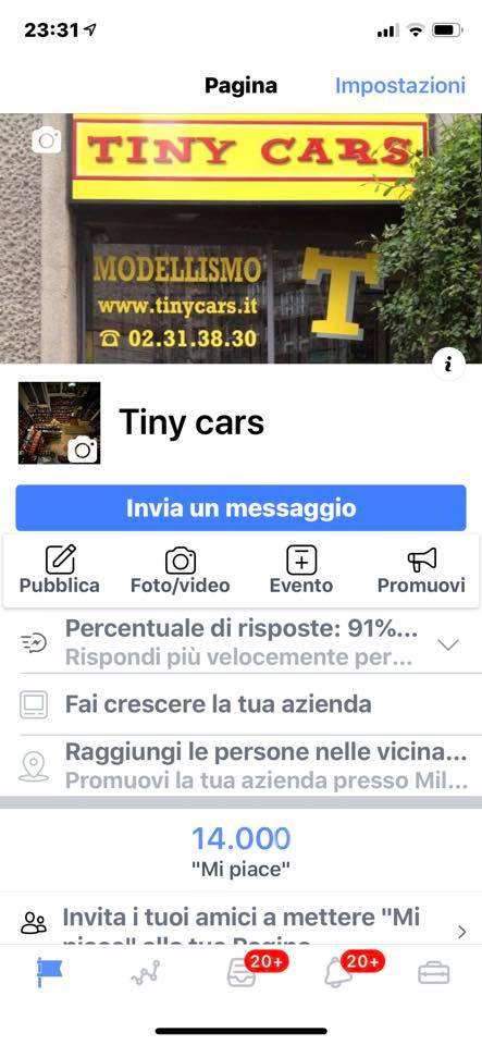 "14.000 ""Mi Piace"" a Tiny Cars! Graziee!"