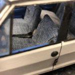 Mario Vitali ci mostra la Fiat Ritmo scala 1:16 completamente autocostruita in cartone e materiali di recupero!