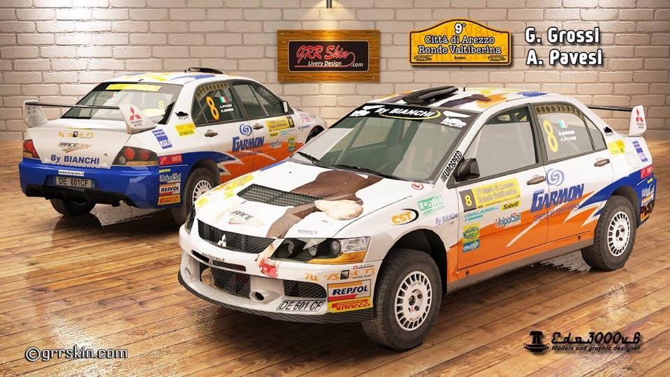 Marco Guerranti autore di Skin per il videogioco Richard Burns Rally ha riprodotto la Tiny Mitsubishi di Grossi e Pavesi, la macchina è scaricabile e utilizzabile nel gioco