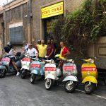 Grande sorpresa! Gli amici del Club Vespa Milano in occasione del 70' in visita da Tiny Cars!