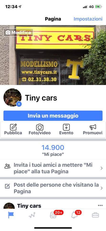 "14.900 ""Mi Piace "" a Tiny Cars! Graziee!"