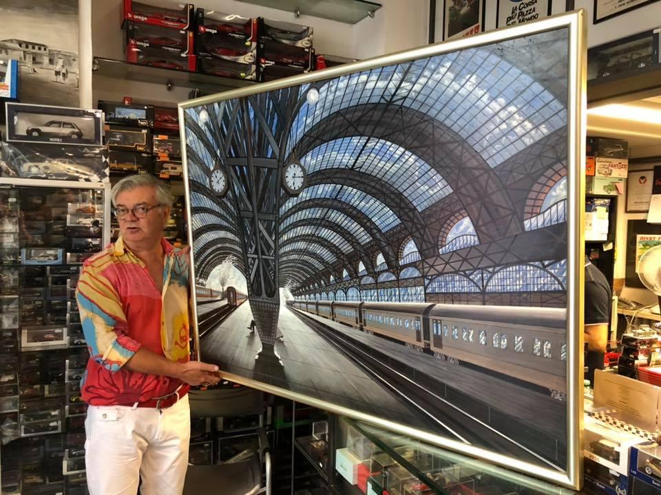 """L'artista Giovanni Moretti ci presenta la sua opera """"quelli che vanno, quelli che tornano, quelli che restano"""""""