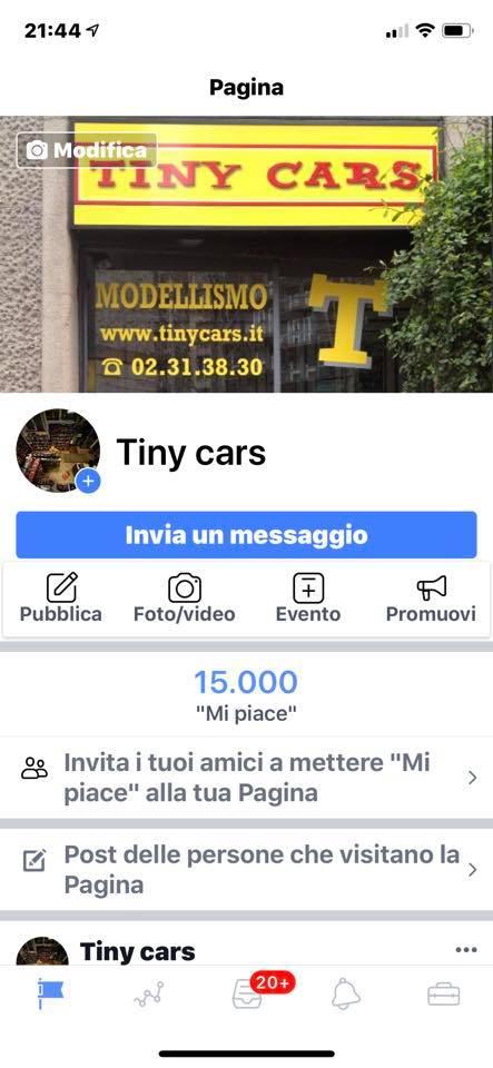"""Quindicimila! 15.000 """"Mi Piace"""" a Tiny Cars!!! Grazieeeee!"""