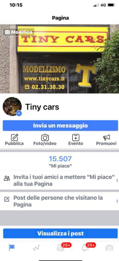 "15.500 ""Mi Piace"" a Tiny Cars! Grazie!"