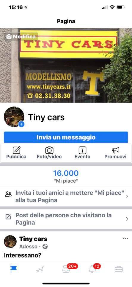 """16.000 """"Mi Piace"""" a Tiny Cars! Grazieee!"""