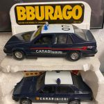 Carabinieri scala 1:24, Alfa Romeo Giulietta e 75 Polistil e Burago